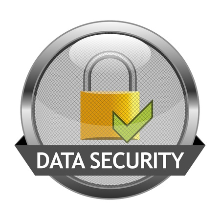 Button Data Security Vector