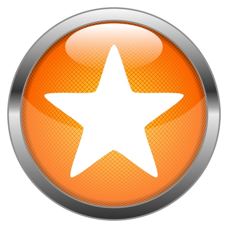 Vector Button Star Stock Vector - 18387654