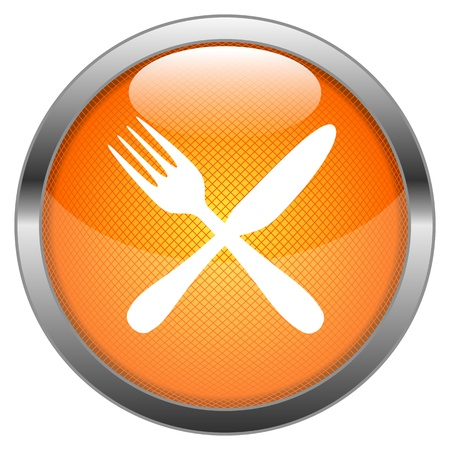 Vector Button Cutlery Stock Vector - 18387661
