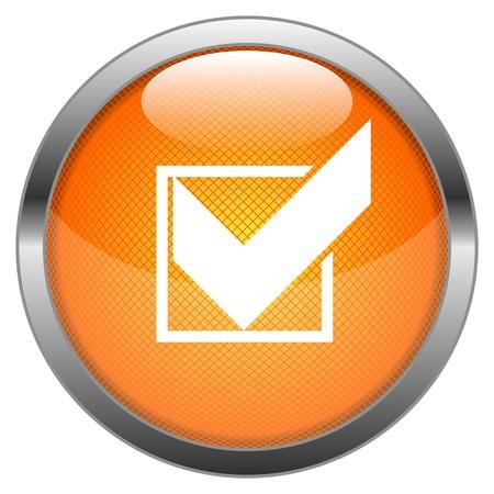 add button: Vector Button Checkmark