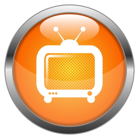 news current events: Vector Button TV Illustration