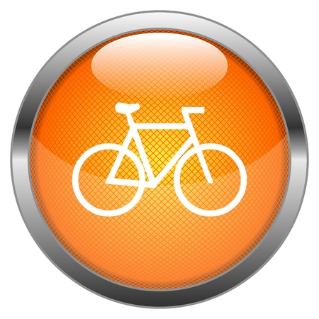 Vector Button Bicycle Illustration