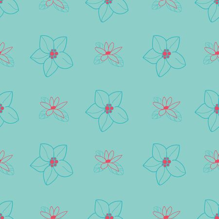 Vector orange blossom seamless pattern. Perfect for fabric, scrapbooking, wallpaper projects. Illustration