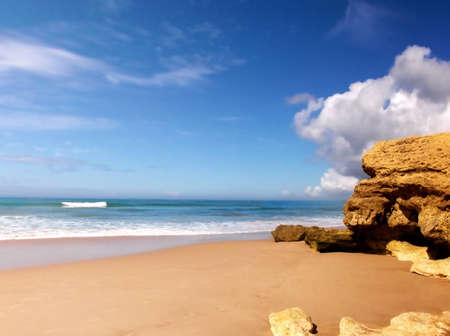 Wonderful desert and sandy beach in Europe - Portugal - Algarve - Albufeira photo