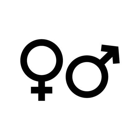 Geschlecht-Symbol. Designvorlage Vektor