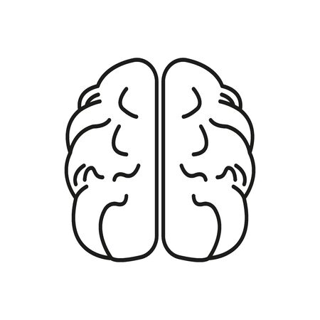 Brain line icon. Design template vector