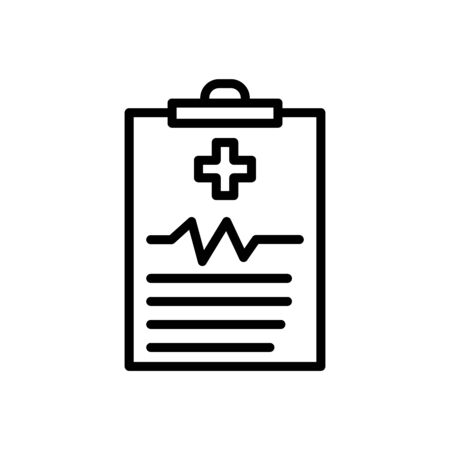 Medical history line icon, design template vector