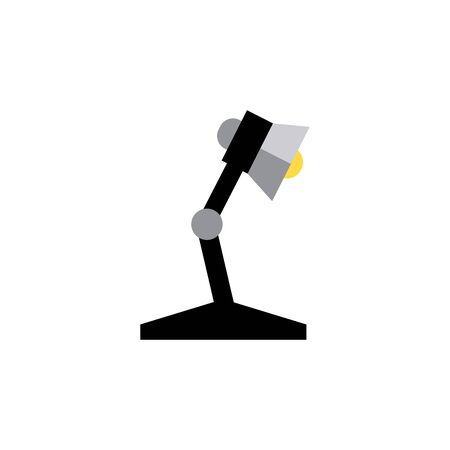 Desk lamp flat icon. Design template vector