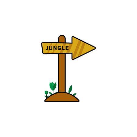 Arrow to the jungle. Design template vector Stock Illustratie
