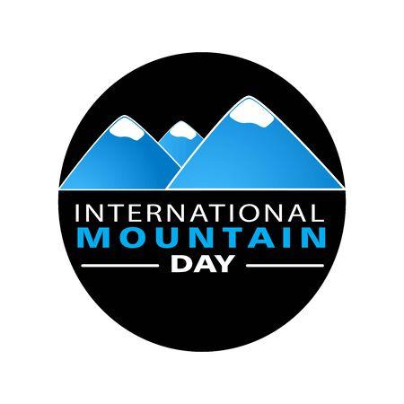 Mountain  icon graphic. Design template vector