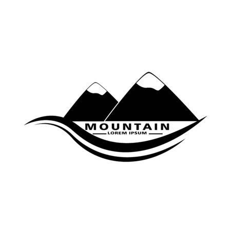 Mountain icon graphic. Design template vector Vectores