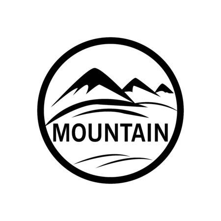 Mountain logo icon graphic. Design template vector