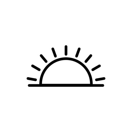 sunset and sunrise line icon. design template vector