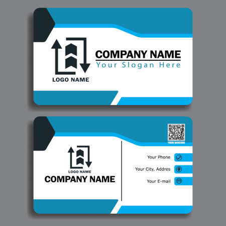 Elegant business card, size 3,254 inch x 2,165 inch. Design template vector