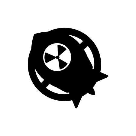 Stop nuclear test icon. Design template vector