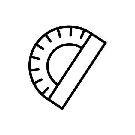 Semicircular ruler line icon. Design template vector Ilustração