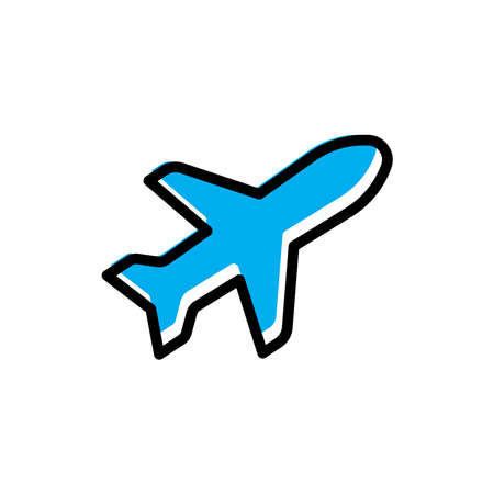Tour and travel, airplane flat icon. Design template vector