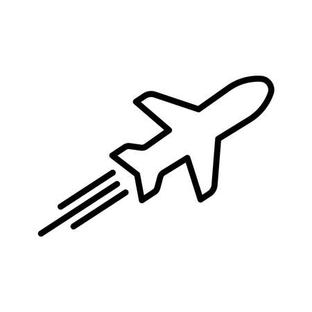 Tour and travel, airplane line icon. Design template vector Иллюстрация