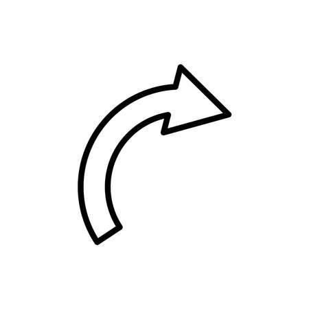 Arrow line icon, continue, right arrow. Design template vector