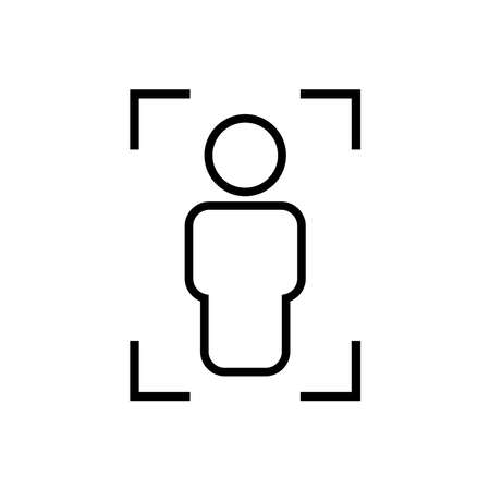 Body scanning line icon, x-ray. Design template vector