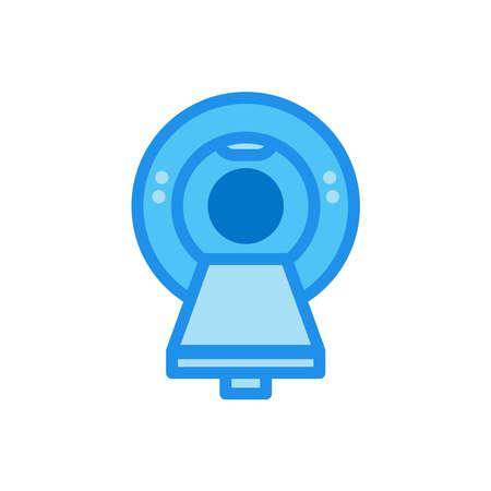 Magnetic resonance imaging (MRI) flat icon. Design template vector Ilustracja
