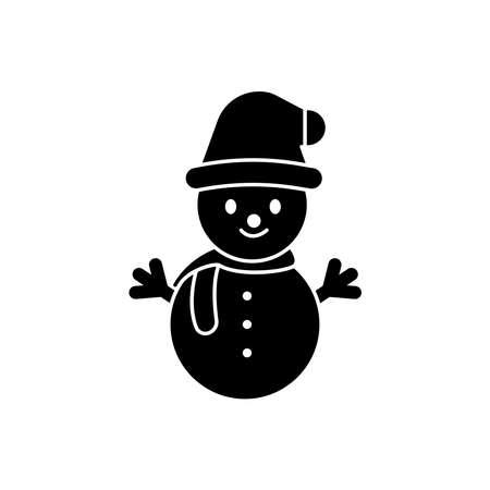 Snowman icon. winter symbol. Design template vector Vektorgrafik