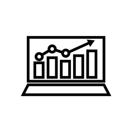 Business analyst icon. arrow go up. business icon. Design template vector