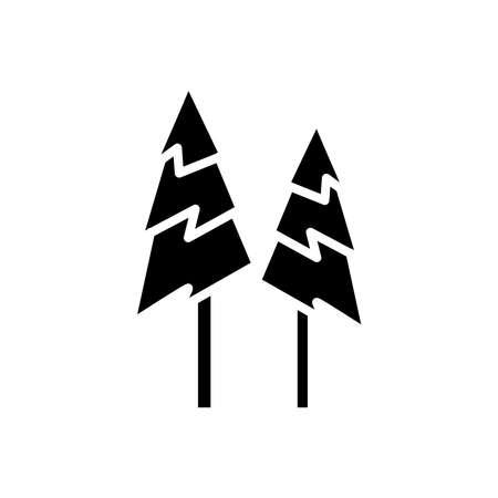 tree icon. winter icon. simple design editable. design vector illustration