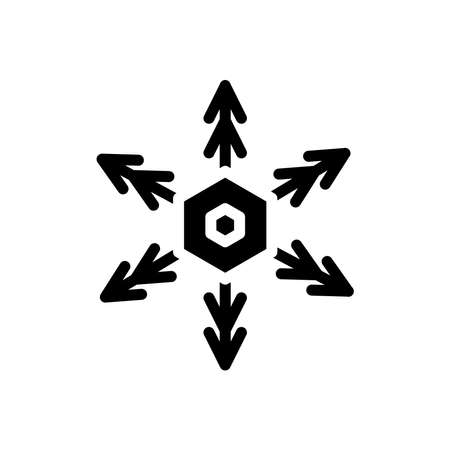 snowflakes icon. Winter icon. simple design editable. design template vector Illusztráció