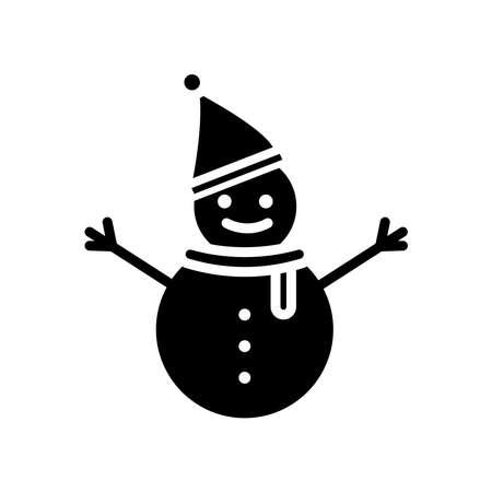 Snowman icon. Winter icon. simple design editable. design vector illustration Illusztráció