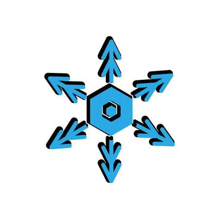 snowflakes flat icon. Winter icon. simple design editable. design template vector