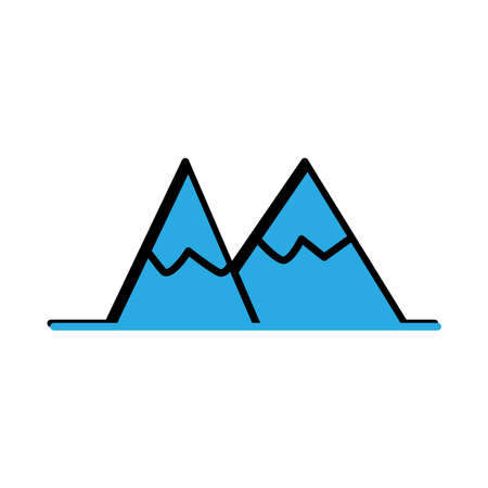 Mountain flat icon. Winter icon. simple design editable. design vector illustration Illusztráció
