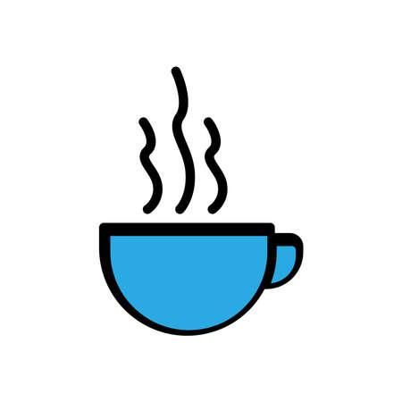 Coffee cup flat icon. simple design editable. design vector illustration