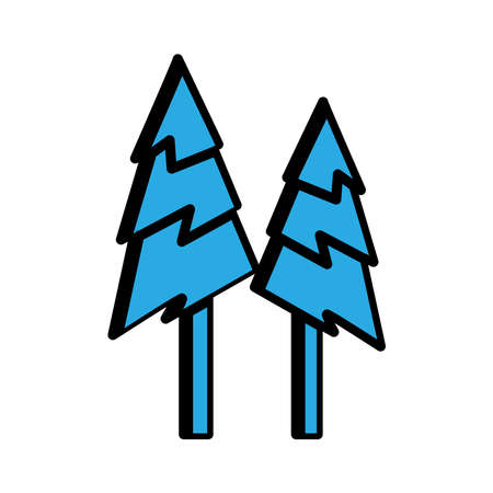 tree flat icon. winter icon. simple design editable. design vector illustration