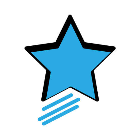 Star flat icon. simple design editable. design vector illustration
