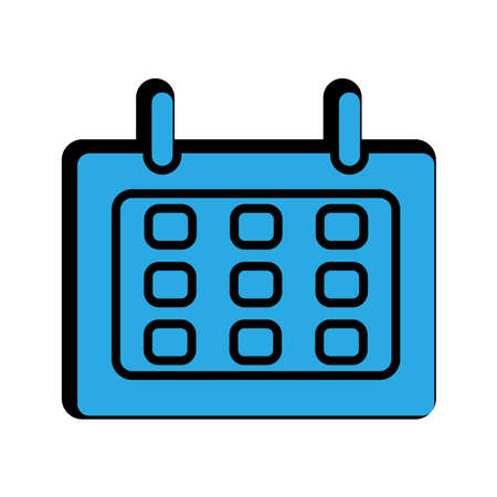 calendar flat icon. simple design editable. design vector illustration