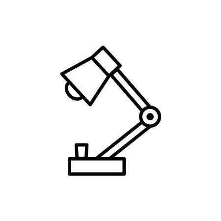 Table lamp line icon vector on white