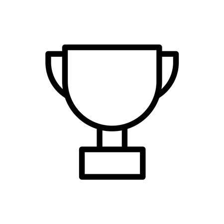 Trophy line icon vector on white