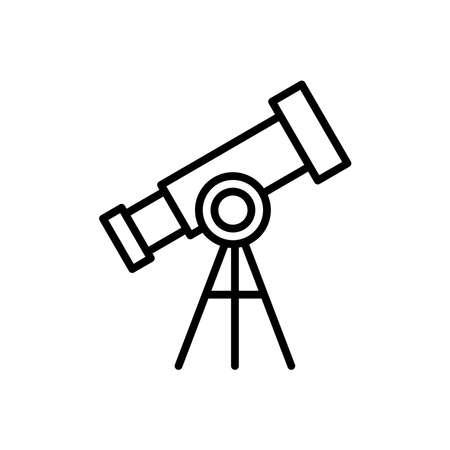 telescope line icon. education symbol. simple design editable. design vector illustration