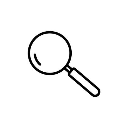 Magnifying glass line icon vector on white