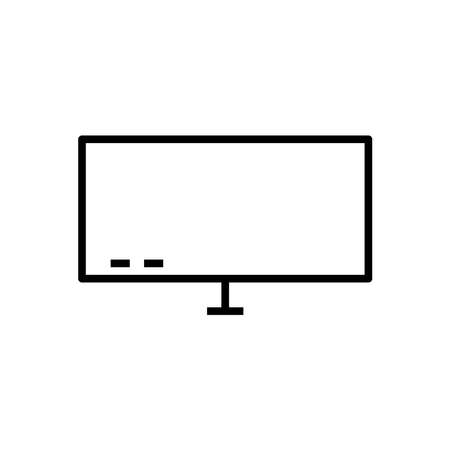 Monitor line icon vector on white