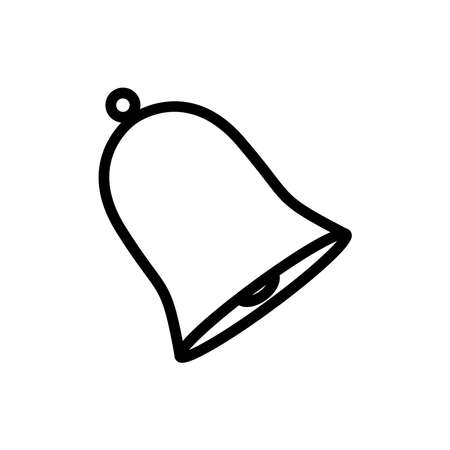 Bell line icon vector on white