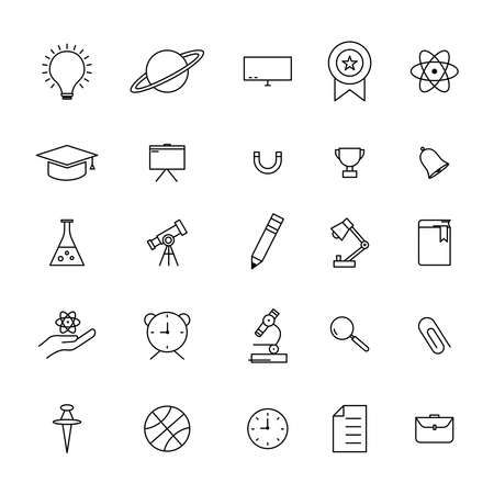 Education line icon set. simple design editable. design vector illustration