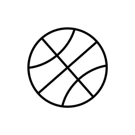 Ball line icon vector on white Illusztráció