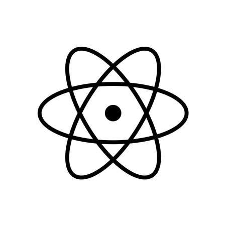 Atom line icon vector on white Illusztráció