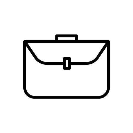 Business bag line icon vector on white