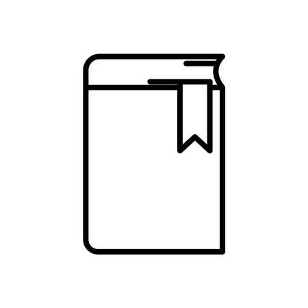 Book icon vector on white