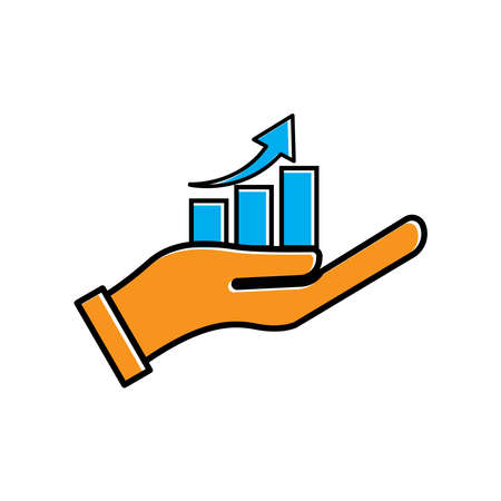 Business analyst flat icon. arrow go up. business icon. Design template vector