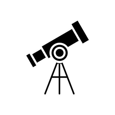 Telescope glyph icon vector on white 向量圖像