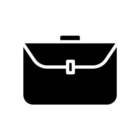 Business bag icon vector on white